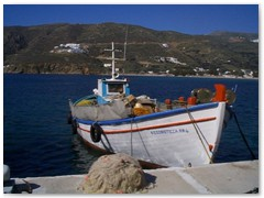 A Caique (Greek Fishing Boat) Ormos - Aegialis
