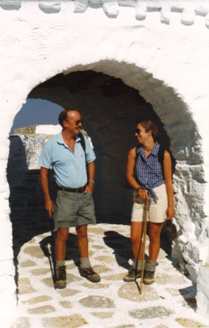 Paul & Henri Delahunt-Rimmer out walking on Amorgos